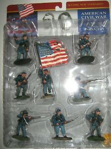 Conte collectibles A C W union infantry mint in box painted 2003- 8 in 8 poses