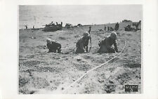 WWII 1940's USMC Off'icial Photo No 3 Marines clearing beach of mines with knive