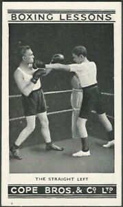 """1935 Cope Bros. & Co., Ltd. """"Boxing Lessons"""" Very High Grade Complete Set of 25"""