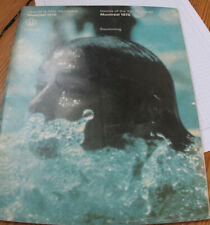 old magazine/programme olympic games in Montreal 1976 Swimming