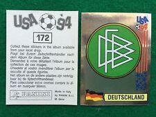 USA 94 n 172 SCUDETTO BADGE GERMANIA DEUTSCHLAND Figurina Sticker Panini NEW