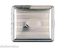 Vom Hofe Cigarette Case Metal /Silver Plated/2seitig/Engraving Space / 18 King