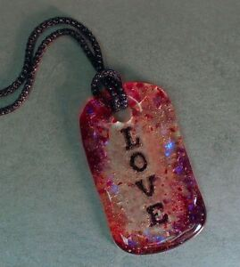 Holey Love Tag Mold - Glass Fusing #LF82
