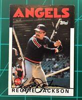 "Hall Of Fame Baseball Reggie Jackson Autograph Signed Card California Angels ""86"