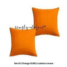 "IKEA Gurli x 2 Orange Cushion Covers Pillow Covers 20 x 20"" Plain w/zipper"