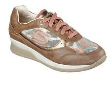 Skechers  Wedge Fit Sz. 8.5 Vita Vivere Fashion Sneaker Brown NEW