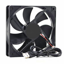 USB 5V PC Computer Case Silent Cooling Fan Brushless Sleeve Bearing 120x120x25mm