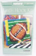 Caron Natura Football Rug Latch Hook Kit Wall Hanging #P541 Sealed Easy No Tool