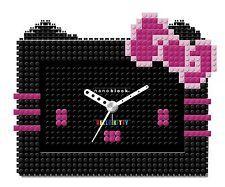 Hello kitty x nano block Alarm Clock Black SANRIO from JAPAN B2313