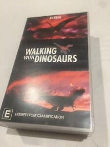 Vintage BBC Walking With Dinosaurs 2x VHS Collection 1999 230 Mins