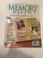 Memory Makers Scrapbook Scrapbooking Magazine, May/June 2003, Home & Garden