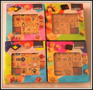 Stamp Set 20 or 26 wooden stamps for designing creative cards, albums or letters