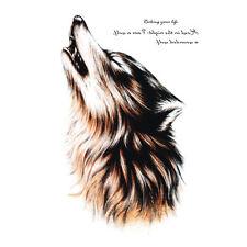 Body Art Beauty Makeup Cool Wolf Wolfing Waterproof Temporary Tattoo Sticker LE