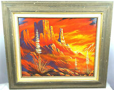 """2003 """"Warmth Of My Heart"""" Alan Smith Oil Painting 16 x 20 Wood Framed"""