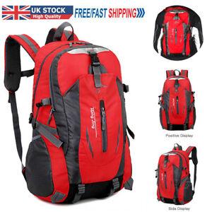 40L Waterproof Comfortable Outdoor Hiking Rucksack Camping Bag Travel Backpack