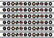 Record disc disk music LP edible cake ribbon decorating icing As seen