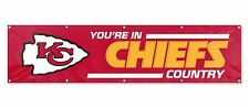 Kansas City Chiefs Country Huge 8x2 Embroidered Applique Flag Banner Football