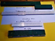 Rechenschieber Doppel-lang 58 cm FABER CASTELL 4/54Darmstadt   perfekter Schuber