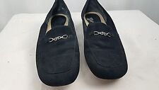 Trotters Black Suede Horsebit Slip On Loafers size 7M