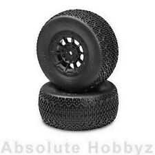 JConcepts 3D's Mountd Losi SCT-E (Green Compound) Black Hazard Wheel (2)