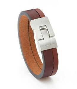 Energetix Brown/tan Leather Magnetic Therapy bracelet. SIZE XXL NEW