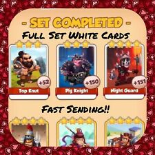 Coin Master Warriors Set (x3 White Cards) Night Guard, Pig Knight...(Fast Send)