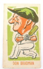 "c1948 BRADMAN CARICATURE CARD. KIDDYS FAVOURITES ""POPULAR CRICKETERS"" VERSION#1"