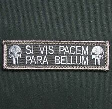 SI VIS PACEM PARA BELLUM PUNISHER TACTICAL USA ARMY MORALE SWAT HOOK PATCH