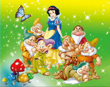 8x8FT Snow White Princess Seven Dwarf Custom Photo Studio Background Backdrop
