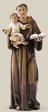 "NEW 6"" Saint St Anthony Statue Figurine Catholic Gift Patron of Padua Baby Jesus"
