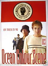"Ocean Colour Scene ""On Tour In '98"" U.K. Promo Poster - Britpop Music"