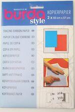 Kopierpapier 2 x 83cm x 57cm ( rot und blau) von burda Art.-Nr. 1100