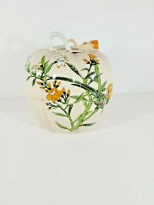 """RARE """"The Parrots"""" The Haldon Group Pumpkin - Covered Candy Dish/Trinket Box"""