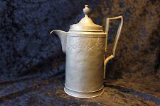 Zinnkanne, Kaffekanne Vorkriegszeit Zinn Deckel  Antik, 3 Stempel  im Unterboden