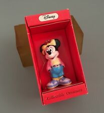 Vintage SCHMID Disney's Minnie Mouse Ceramic Holiday Figurine Ornament in Box
