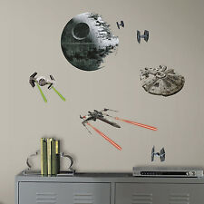 STAR WARS CLASSIC SPACE SHIPS DEATH STAR WALL DECALS Millenium Falcon Stickers