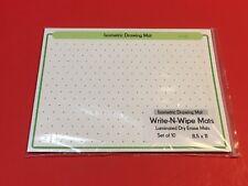 Isometric Drawing Mats - Small - Laminated Dry Erase Mats