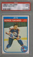 (1.CARD) SERGE SAVARD 1982 O PEE CHEE  #390 PSA 9