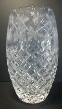"""Stunning Crystal Vase, Hawkes Quality/School, Hatch with Maples Leaves - 8-3/4"""""""