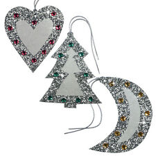 75 Jewelled & Glittered Christmas Gift Tags Studded with Gemstones XT0005