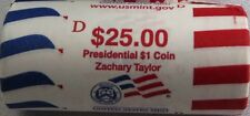 "2009 D Zachary Taylor Presidential ""Unopened"" Mint Dollar 25 Coin ROLL"