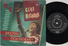 """CLIFF RICHARD Shooting From The Heart  7"""" Ps, B/W Small World, Rich 1, Record Co"""