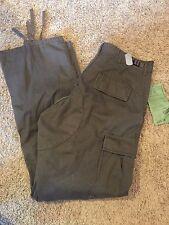 Mens NWT ULTRA FORCE 31/29 Brown Cuff Ties Classic Fit Regular Cut Cargo Pants