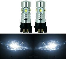 LED 30W 12181 PW24W White 5000K Two Bulbs Signal DRL Daytime Light Audi BMW