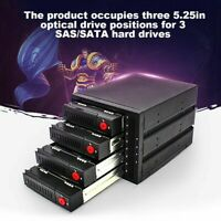 "SATA 4-Bay 2.5"" 3.5"" Built-in Hard Drive Enclosure Optical Drive Hard Disk SLS"