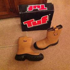 Tuf Solestep Rigger Safety Boot With Scuff Cap - Tan - Size 7 - Unlined
