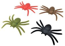 4 Super Stretchy Spiders 5cm.party bag toys,loot bag favours,Halloween prizes