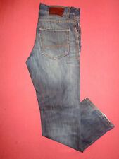 DESIGNER Hugo Boss Orange-Herren Blau Denim Jeans-Taille 32 Bein 32-J675-2