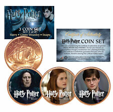 Harry Potter DEATHLY HALLOWS Colorized British Halfpenny 3-Coin Set (Set 2 of 6)