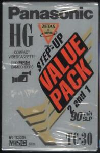Lot of 3 Sealed Panasonic ST-C30 ~ VHS Camcorder Tape